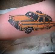 готовая татуировка с рисунком такси 2