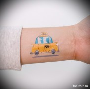 готовая татуировка с рисунком такси 3
