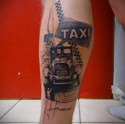 готовая татуировка с рисунком такси 6
