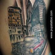 готовая татуировка с рисунком такси 7