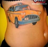 готовая татуировка с рисунком такси 8
