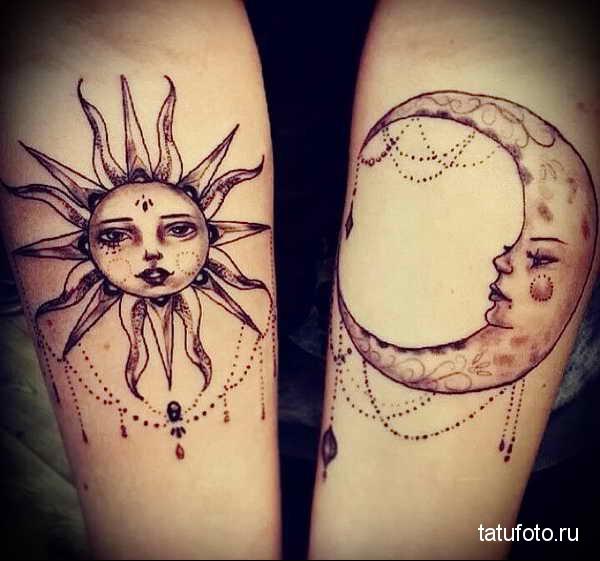 значение татуировки солнце готовый пример на фото