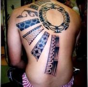 татуировка солнце на половинц спины – узоры ацтеков