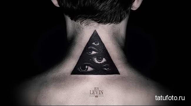 тату глаз в треугольнике 2323