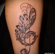 тату скрипичный ключ 1