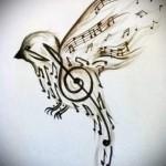 тату скрипичный ключ 2