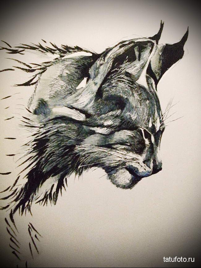 что значит татуировка с рысью - пример эскиза