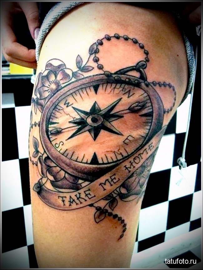 Значение тату компас 3