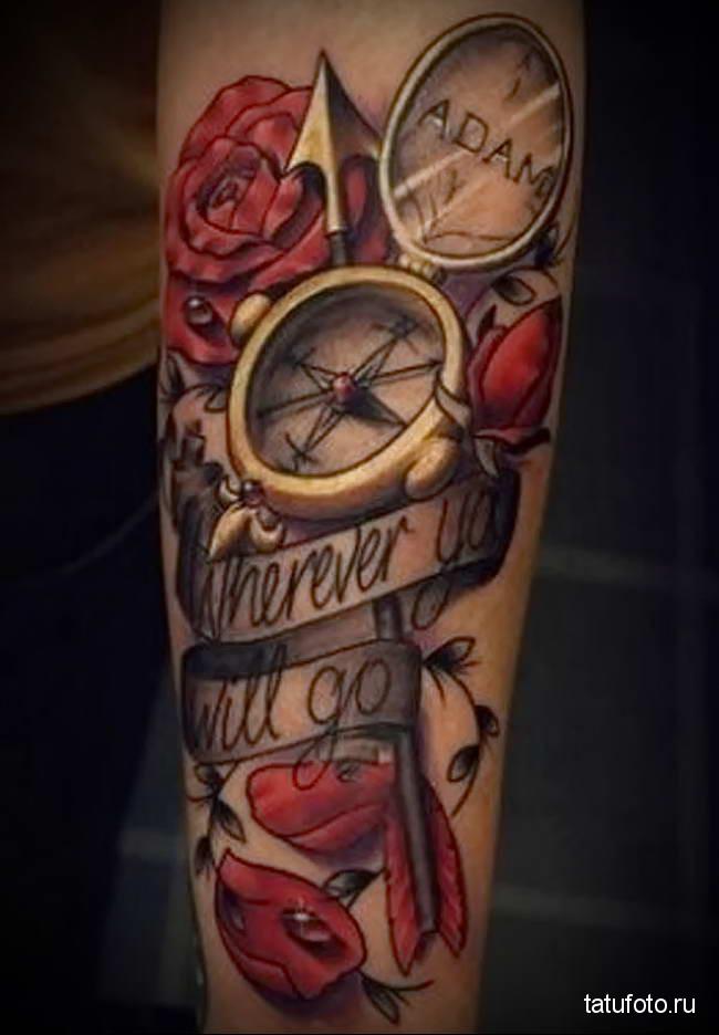 Значение тату компас 5