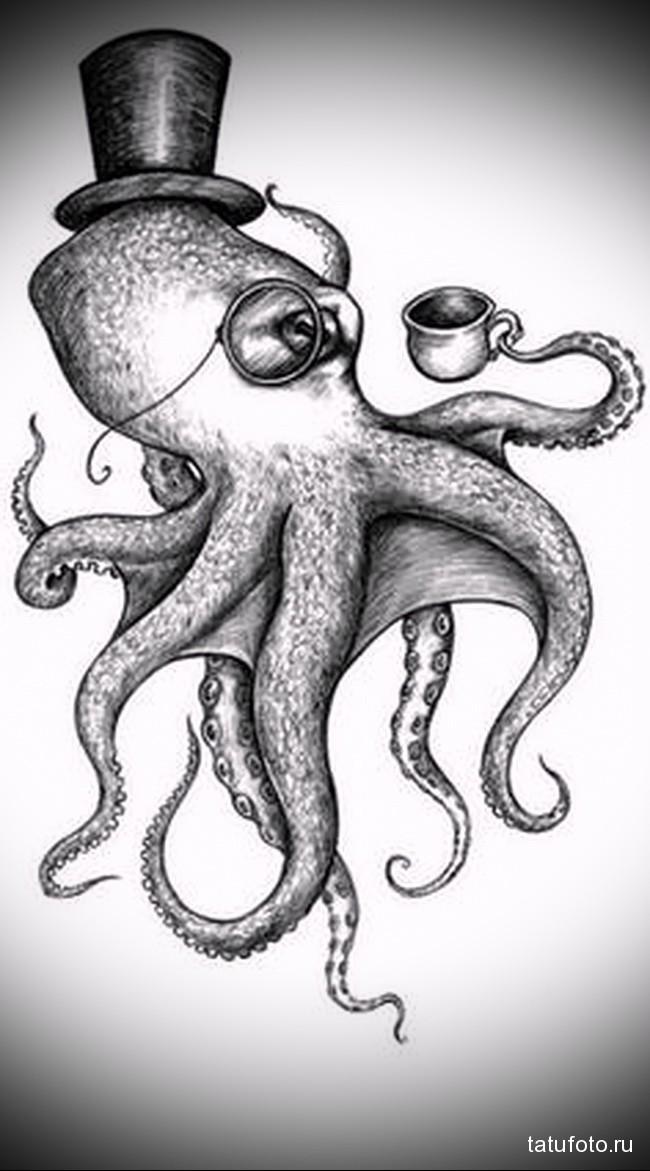 Значение тату осьминог 1