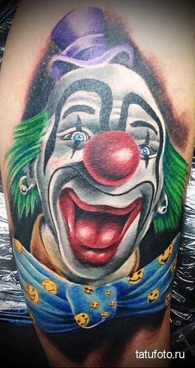Тату клоун фото 11232312