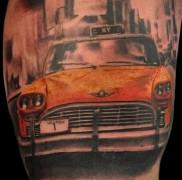 готовая татуировка с рисунком такси 1