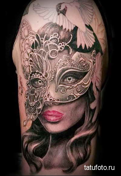 mask tattoo 12