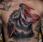 tattoo wolf grin 123