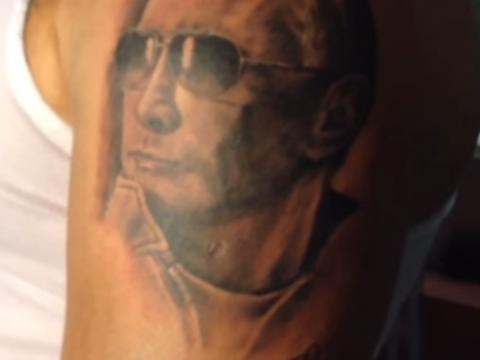 Татуировка с В.В. Путиным по решению большинства аудитории радиослушателей