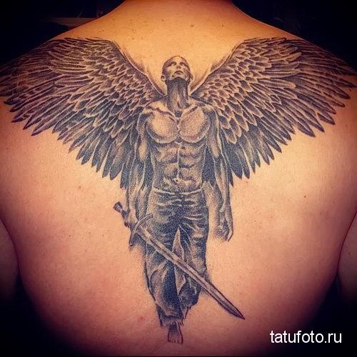 ангел с мечом тату 3