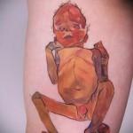 младенец - тату акварель фото