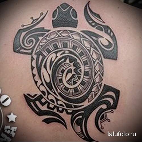 полинезийская черепаха тату 9