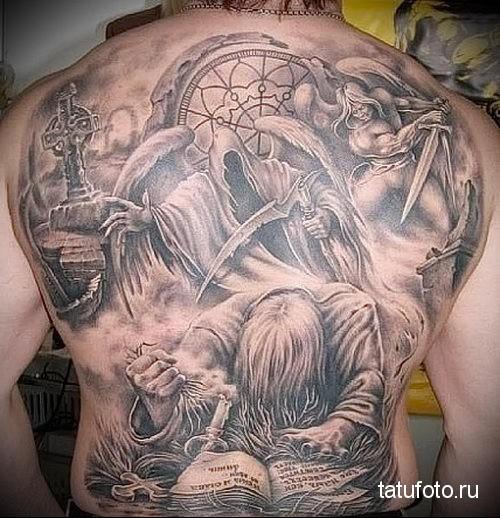 Поле боя - фото тату - Татуировки и их значение 88