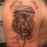 тату вдв тигр и надпись афганистан