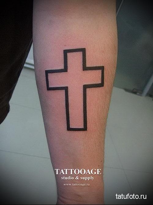 Татуировки что означает крест на руке 8