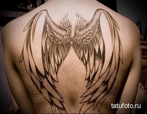 тату крылья ангела на спине 2