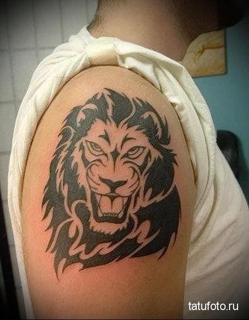 татуировки на руке мужские лев