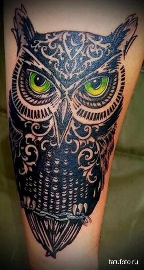 сова рисунок татуировка