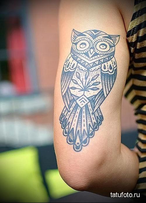 тату сова на руке 5
