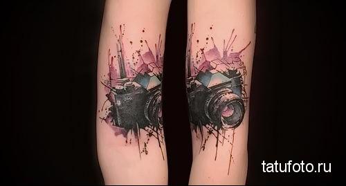 фотоаппарат - тату акварель фото