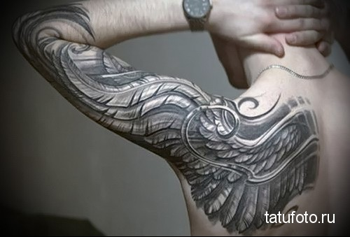 крыло орла тату 1