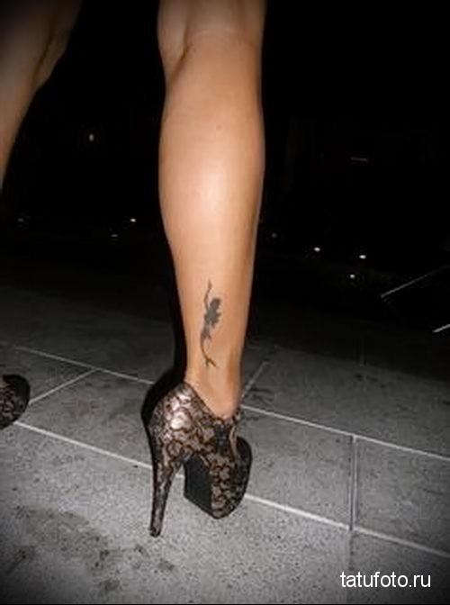 маленькие тату ноге