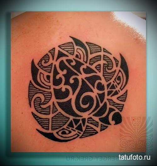 полинезийская черепаха тату 12