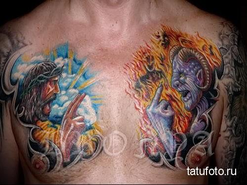 тату ангел и демон 10
