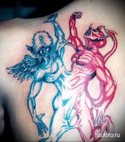 тату ангел и демон 4