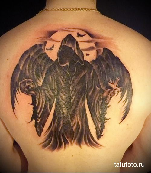 тату ангел смерти 2