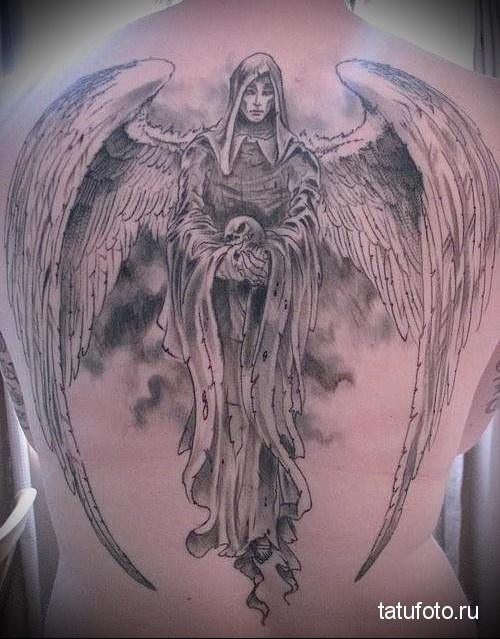 тату ангел хранитель 2