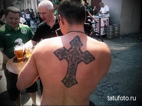 тату армянский крест 1