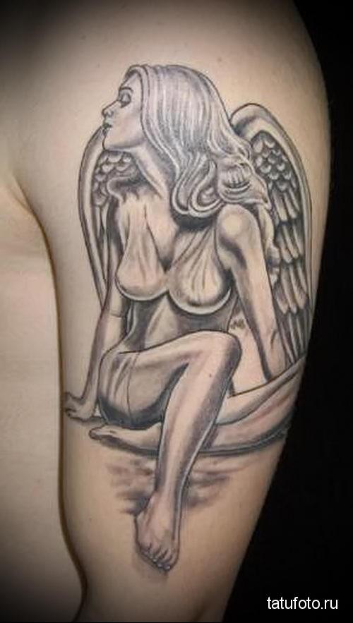 тату девушка ангел 1