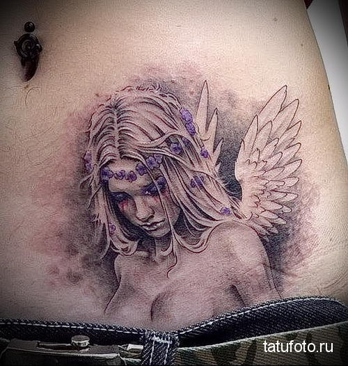 тату девушка ангел 2