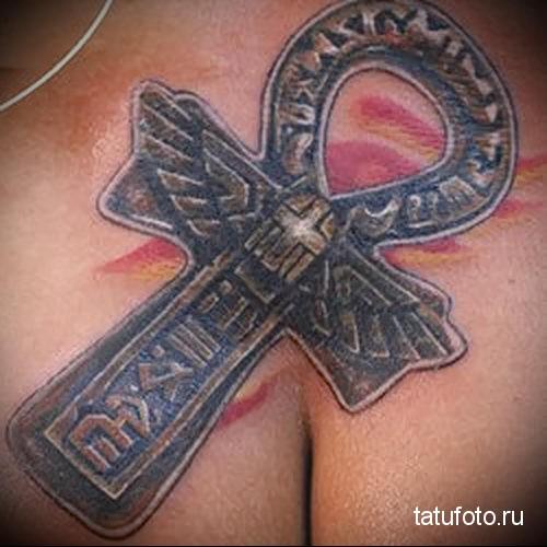 тату египетский крест 3
