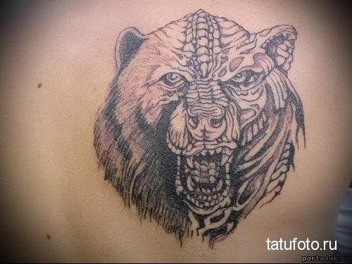 тату злой медведь 2