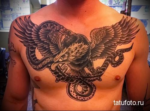 тату змея орел 3