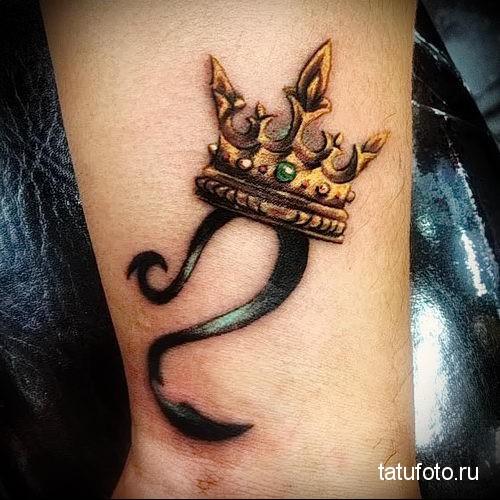 тату знак зодиака лев и корона