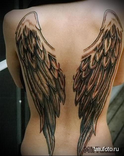 тату крылья ангела 1