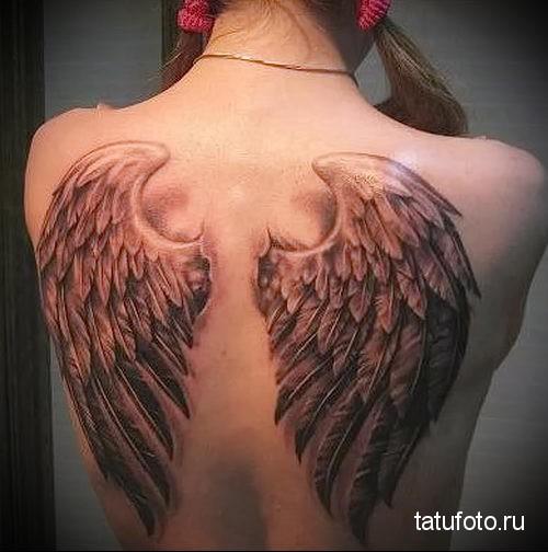 тату крылья ангела 3