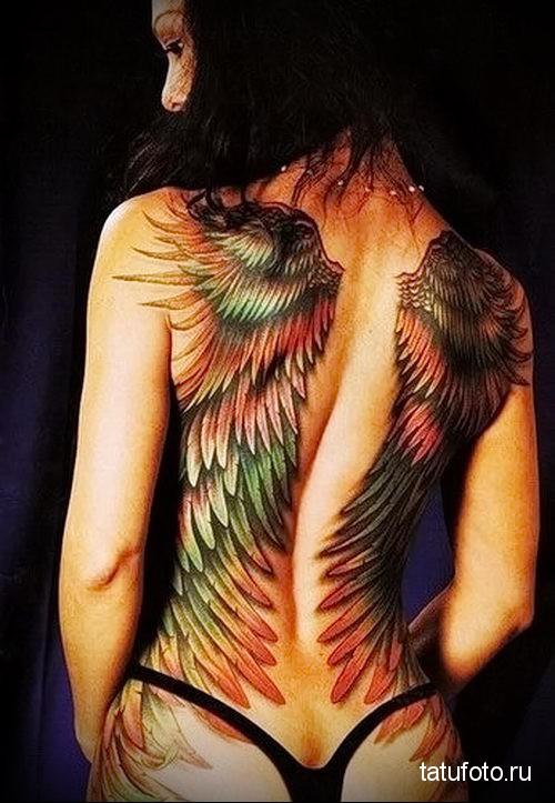 тату крылья ангела 8