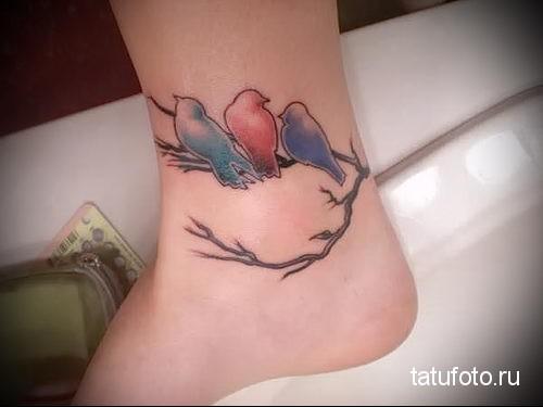 тату маленькие птички 8