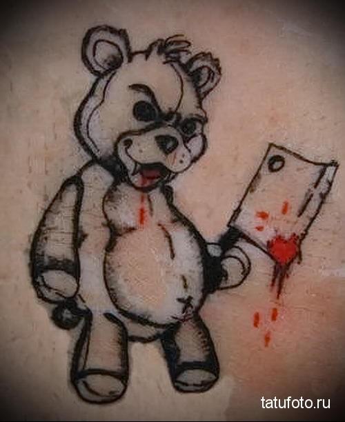 тату медведь с топором 1