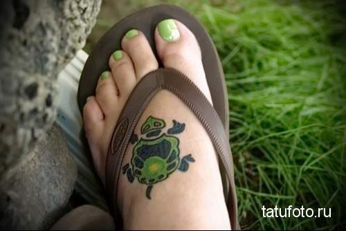 тату морская черепаха 24